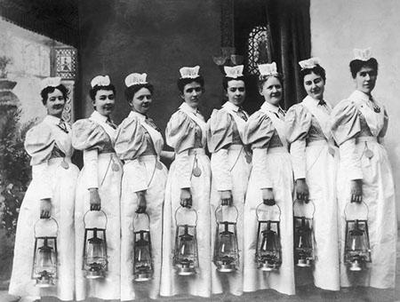 fotoenfermeirascomlampadas