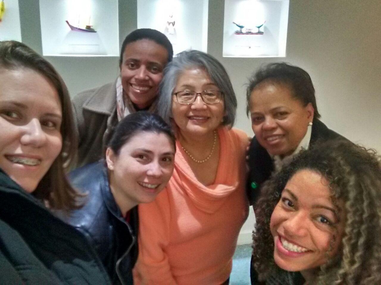 Enfas. Lilian, Lúcia, Luciane e Adriana, Hospital Emilio Ribas da Baixada Santista e Santa Casa de Santos e Ana Miranda e Kazuko
