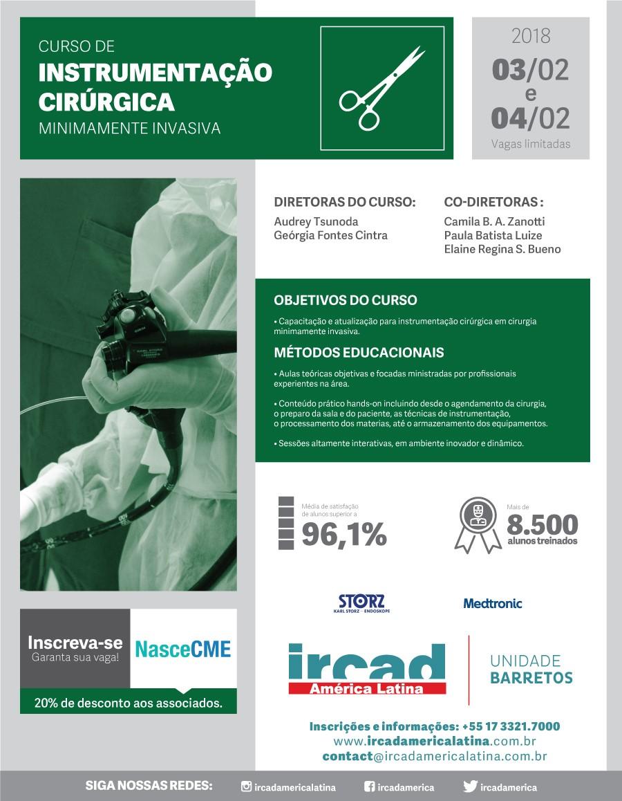 Curso Instrumentação Cirúrgica Minimamente Invasiva - 03,04/02 - São Paulo
